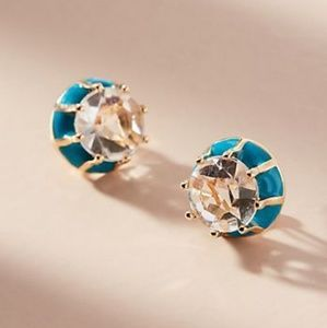 Anthropologie NWT Atlantis earrings blue